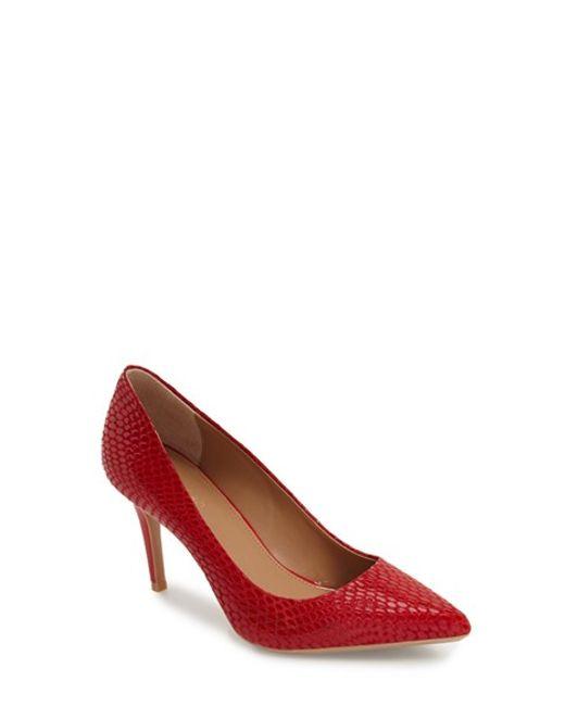 Calvin Klein Lipstick Red Shoes