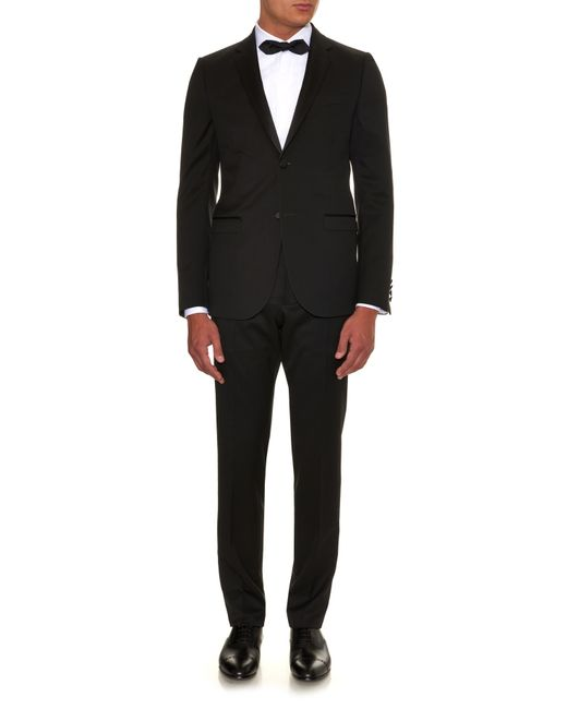 Gucci | Black Satin-lapel Single-breasted Wool Tuxedo for Men | Lyst