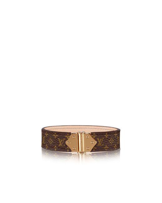 Louis Vuitton   Brown Nano Monogram Bracelet   Lyst