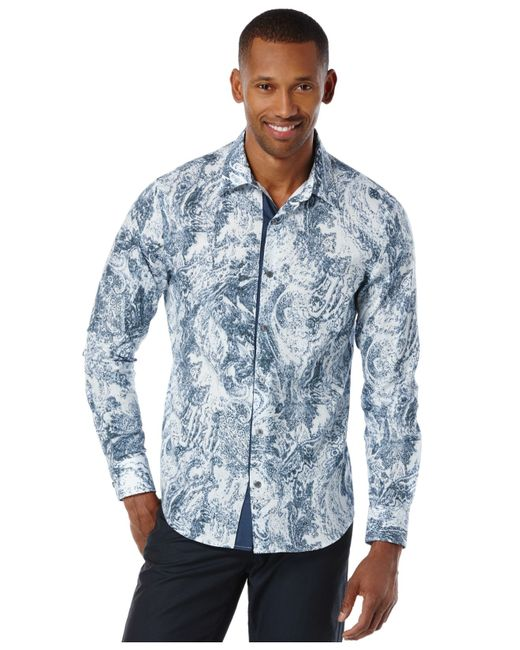 perry ellis men 39 s big and tall long sleeve paisley print ForBig And Tall Long Sleeve Shirts