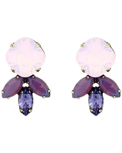 DANNIJO | Purple Luna Earrings | Lyst