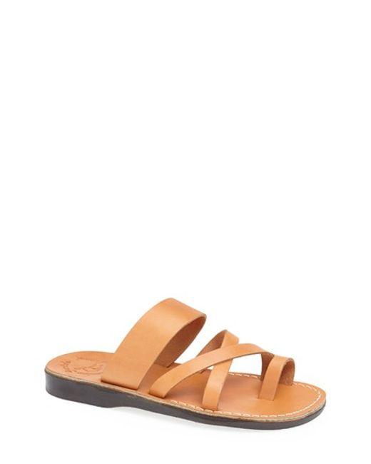 Jerusalem Sandals | Brown 'the Good Shepherd' Leather Sandal for Men | Lyst