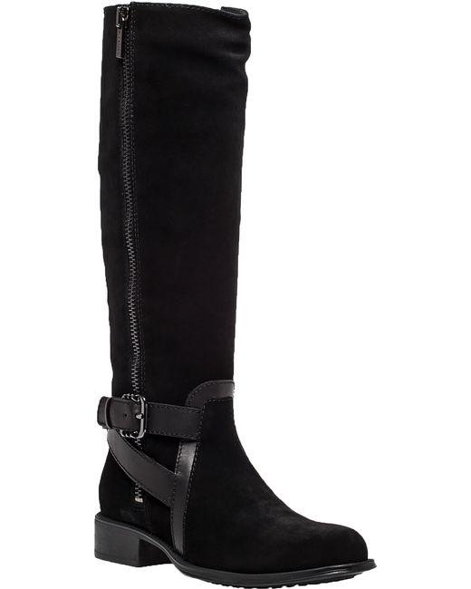 aquatalia uriale black suede boot in black lyst