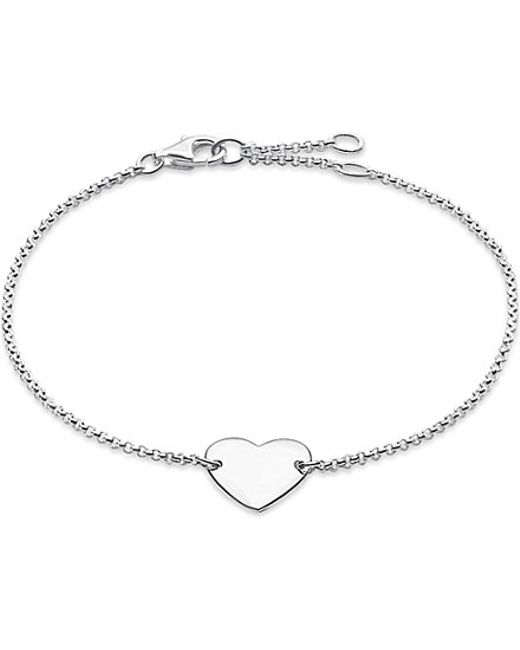Thomas Sabo | Metallic Classic Sterling Silver Heart Bracelet | Lyst