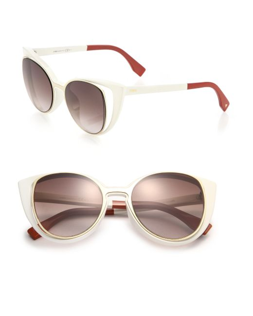 Fendi   Brown Cat's-eye 51mm Sunglasses   Lyst
