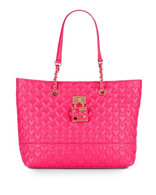 betsey johnson be my baby quilted tote in purple