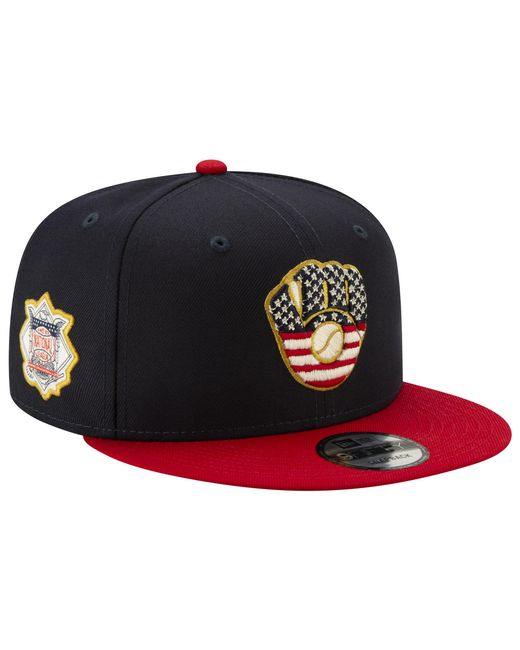 new concept 6610e 3a9e9 KTZ - Blue Milwaukee Brewers Mlb 9fifty July 4th Snapback Cap for Men - Lyst  ...