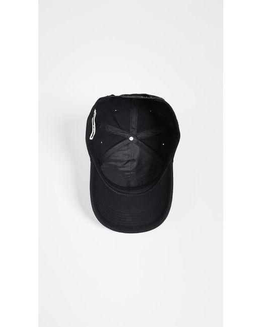 37767fc9d8362 ... McQ Alexander McQueen - Black Metal Logo Baseball Cap for Men - Lyst ...