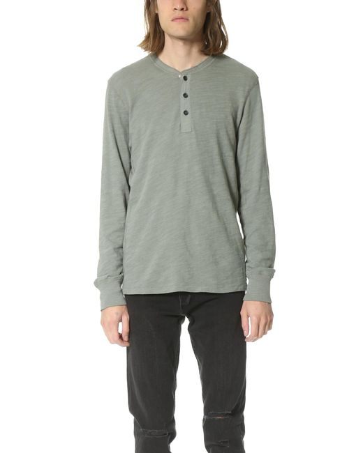 Rag & Bone | Green Basic Henley for Men | Lyst