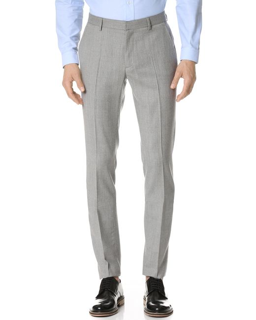 Calvin klein Exact Trousers in Gray for Men (Limestone) | Lyst