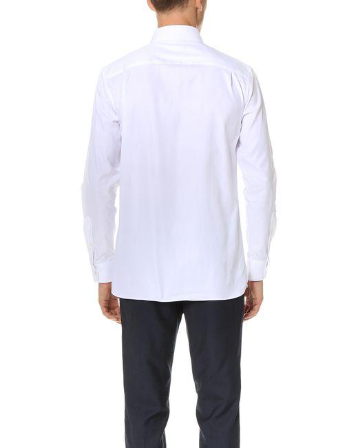 Club monaco slim button down dress oxford shirt in black for Black oxford button down shirt