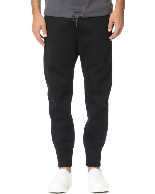 Helmut Lang | Black Sponge Fleece Curved Leg Track Pants for Men | Lyst