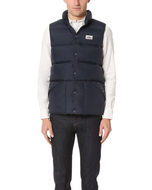 Penfield | Blue Outback Down Vest for Men | Lyst