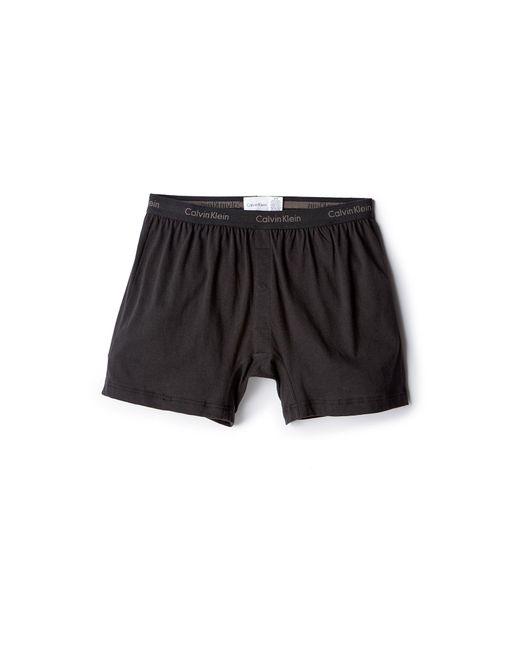 Calvin Klein | Black Knit Slim Fit Boxers for Men | Lyst