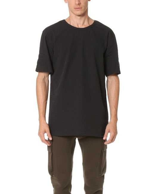 Helmut Lang | Black Jersey Short Sleeve Tee | Lyst