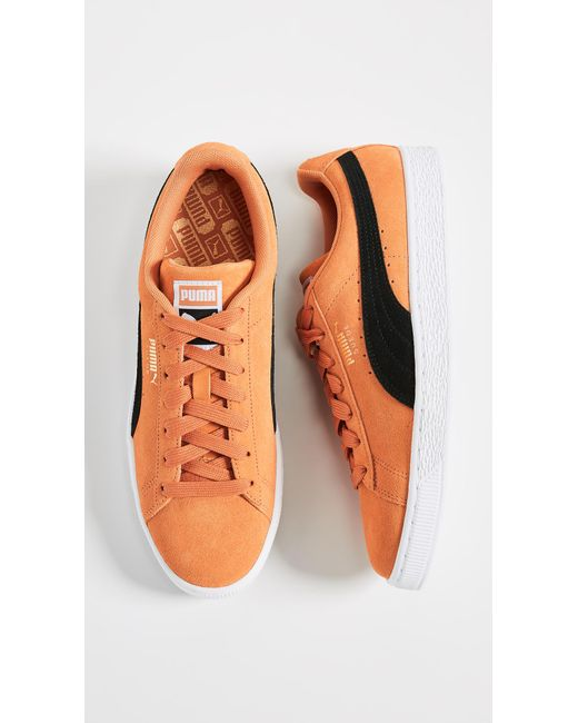 ... Puma Select - Orange Suede Classic Sneakers for Men - Lyst ... 1428857aa