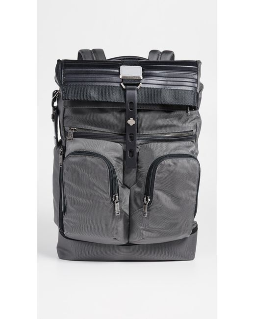 Tumi - Gray Alpha Bravo London Roll Top Backpack for Men - Lyst