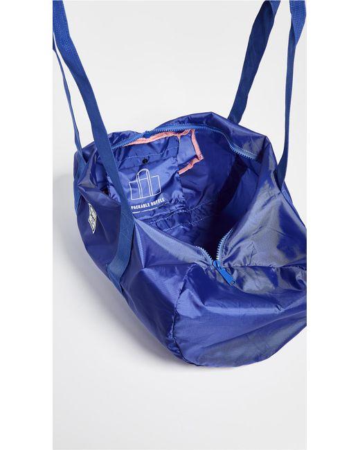 e710a3f50917 ... Herschel Supply Co. - Blue Packable Duffel for Men - Lyst ...