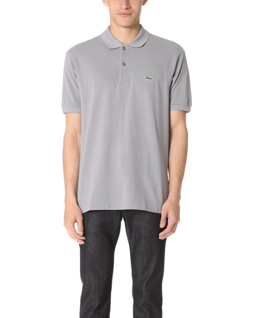 Lacoste   Gray Short Sleeve Classic Polo Shirt for Men   Lyst