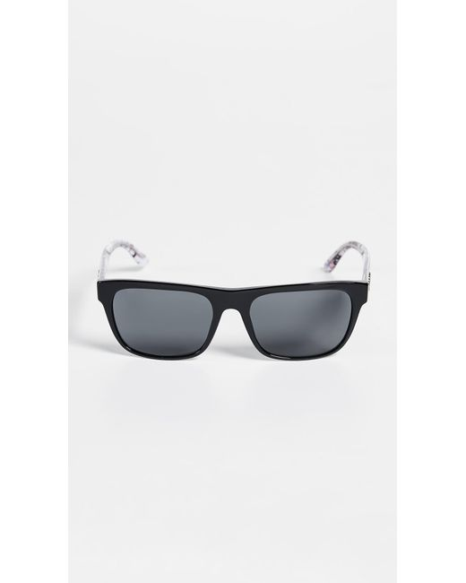 b52b50819e4f Burberry - Gray Rectangular Sunglasses for Men - Lyst ...