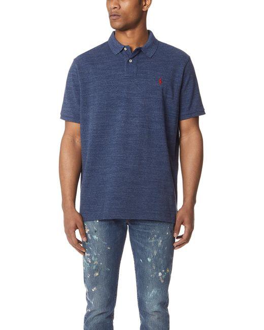 Polo Ralph Lauren - Blue Custom Slim Fit Polo Shirt for Men - Lyst