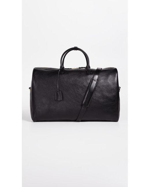 Lotuff Leather - Black No.12 Leather Weekender Bag for Men - Lyst