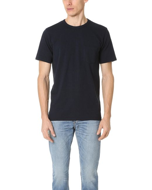 Rag & Bone | Blue Standard Issue Pocket Tee for Men | Lyst
