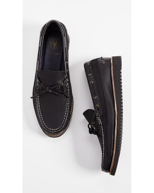 8a1add465b1 ... Cole Haan - Black Pinch Rugged Camp Moccasins for Men - Lyst ...