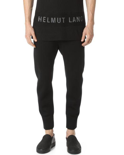 e44cd07b070c99 Helmut Lang - Black Sponge Fleece Curved Leg Track Pants for Men - Lyst ...