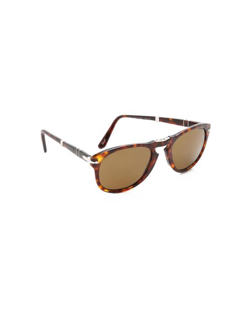 Persol Folding Classic Sunglasses in Brown for Men | Lyst