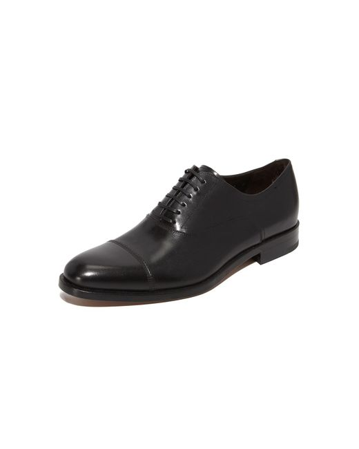 Ferragamo | Black Guru Cap Toe Lace Up Shoes for Men | Lyst