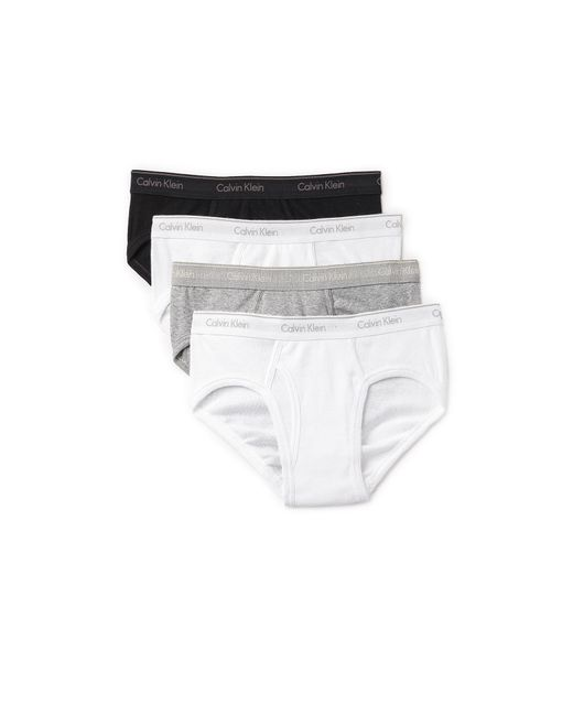 Calvin Klein - Multicolor 4 Pack Cotton Classic Low Rise Hip Briefs for Men - Lyst