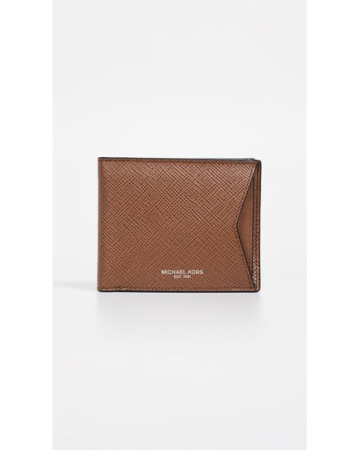 1542d54f3f90 Michael Kors - Brown Harrison Wallet With Card Case for Men - Lyst ...