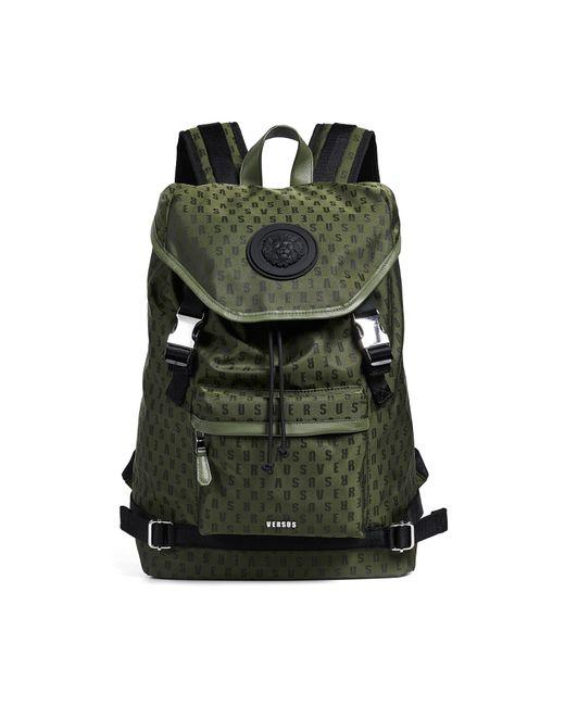 ... Versus - Green Nylon Top Loader Backpack for Men - Lyst 49d7ae899b6be