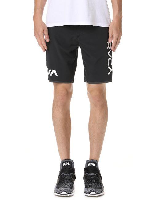 RVCA - Black Staff Iii Dual Layer Shorts for Men - Lyst