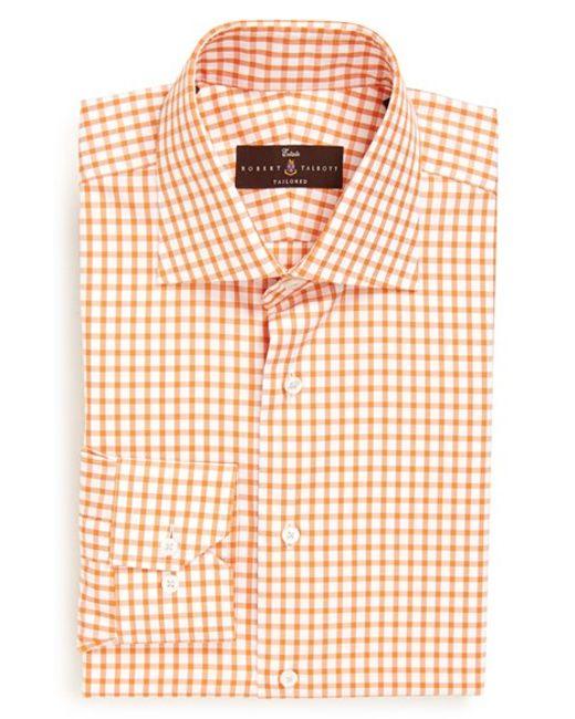Robert talbott trim fit gingham twill dress shirt in for Robert talbott shirts sale