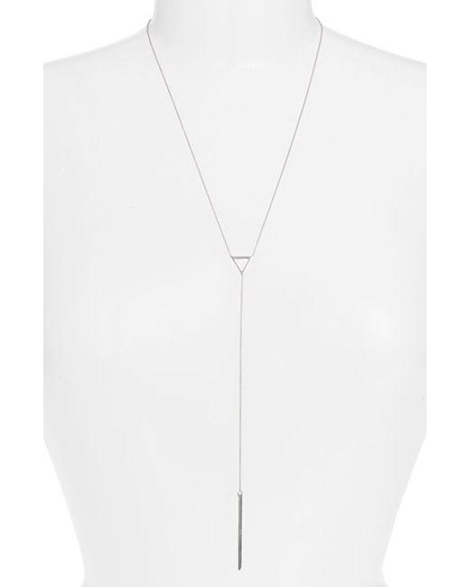 Bony Levy | Metallic Long Y-necklace (nordstrom Exclusive) | Lyst