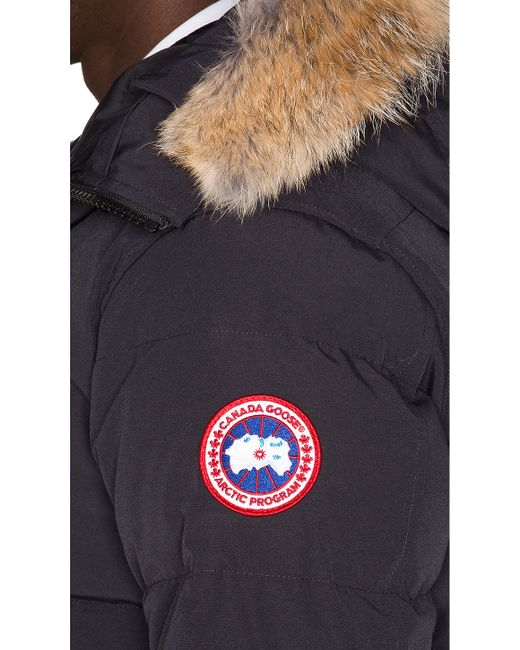 Canada Goose womens sale fake - Canada goose Carson Coyote Fur Trim Parka in Blue for Men (Navy ...