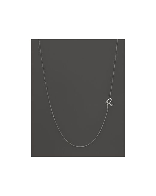 KC Designs | Diamond Side Initial R Necklace In 14k White Gold, .07 Ct. T.w. | Lyst