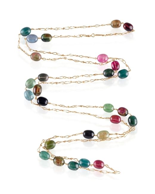 Dean Harris   Multicolor Tourmaline Pebble Necklace   Lyst
