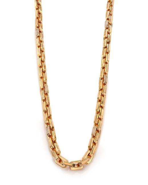 Eddie Borgo   Metallic Pave Crystal Small Supra Link Necklace   Lyst