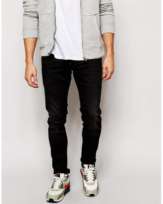 star raw jeans defend super slim skinny fit slander worn black. Black Bedroom Furniture Sets. Home Design Ideas