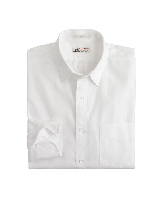 Thomas Mason | White Slim Shirt for Men | Lyst