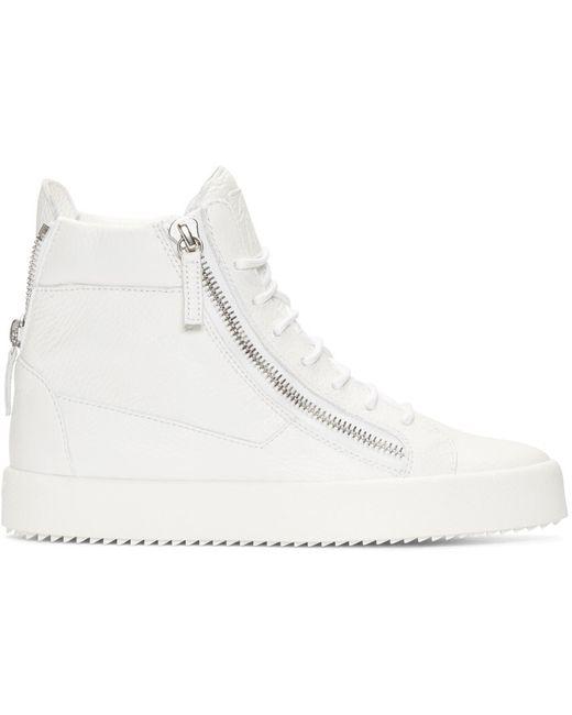 Giuseppe Zanotti | White Leather High-top London Sneakers for Men | Lyst
