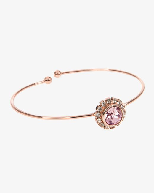 Ted Baker | Pink Crystal Bangle | Lyst