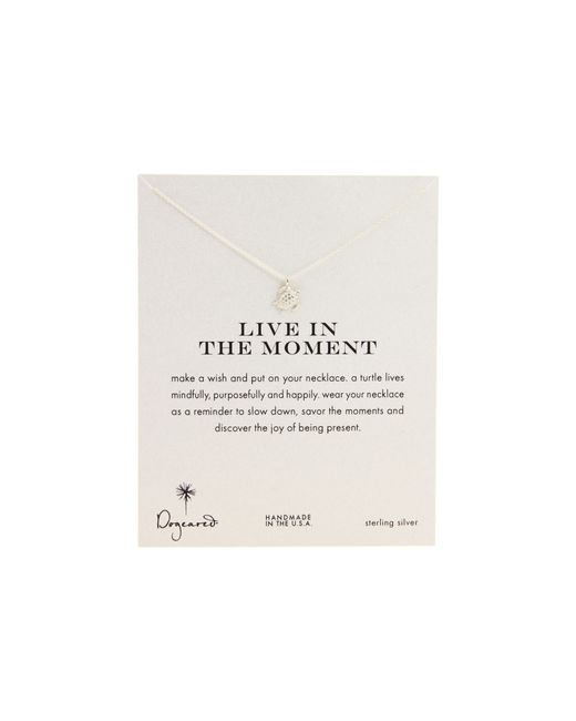 Dogeared | Metallic Live In The Moment Sea Turtle Reminder Necklace | Lyst