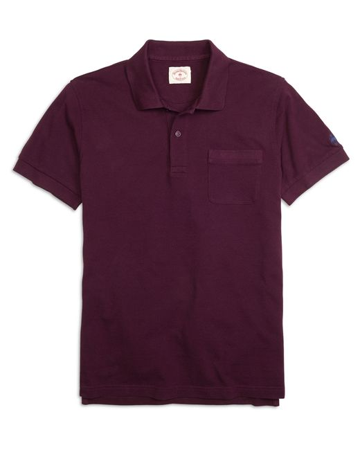 Brooks Brothers | Purple Solid Pique Polo Shirt for Men | Lyst