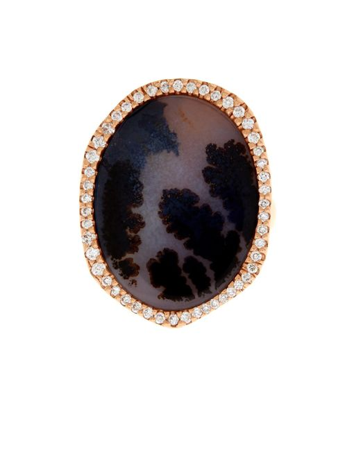 Monique Péan | Pink Diamond, Agate & Rose-Gold Ring | Lyst