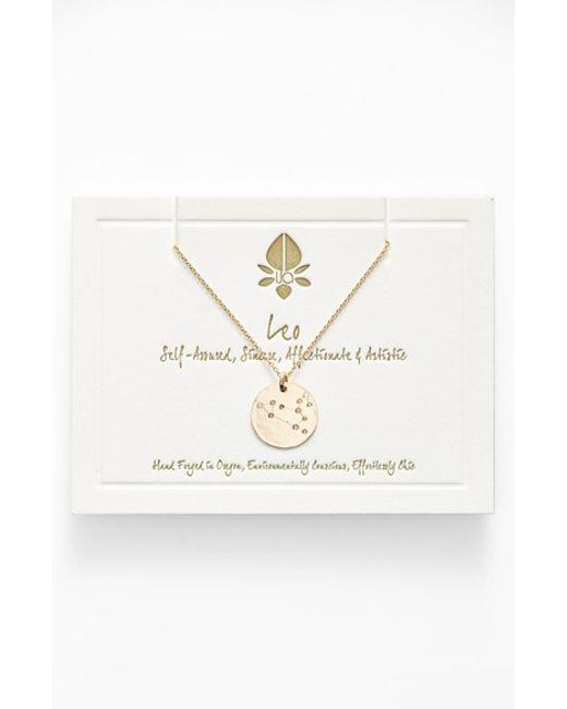 Ija | Metallic 'small Zodiac' 14k-gold Fill Necklace | Lyst