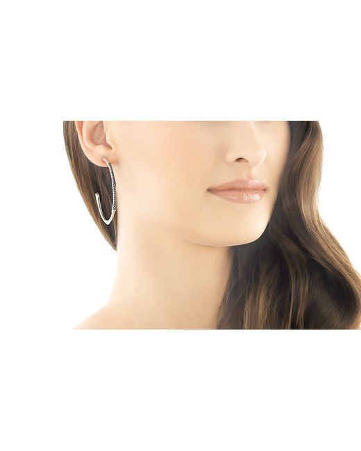 John Hardy | Bamboo Silver Lava Large Hoop Earrings With Black Sapphire | Lyst